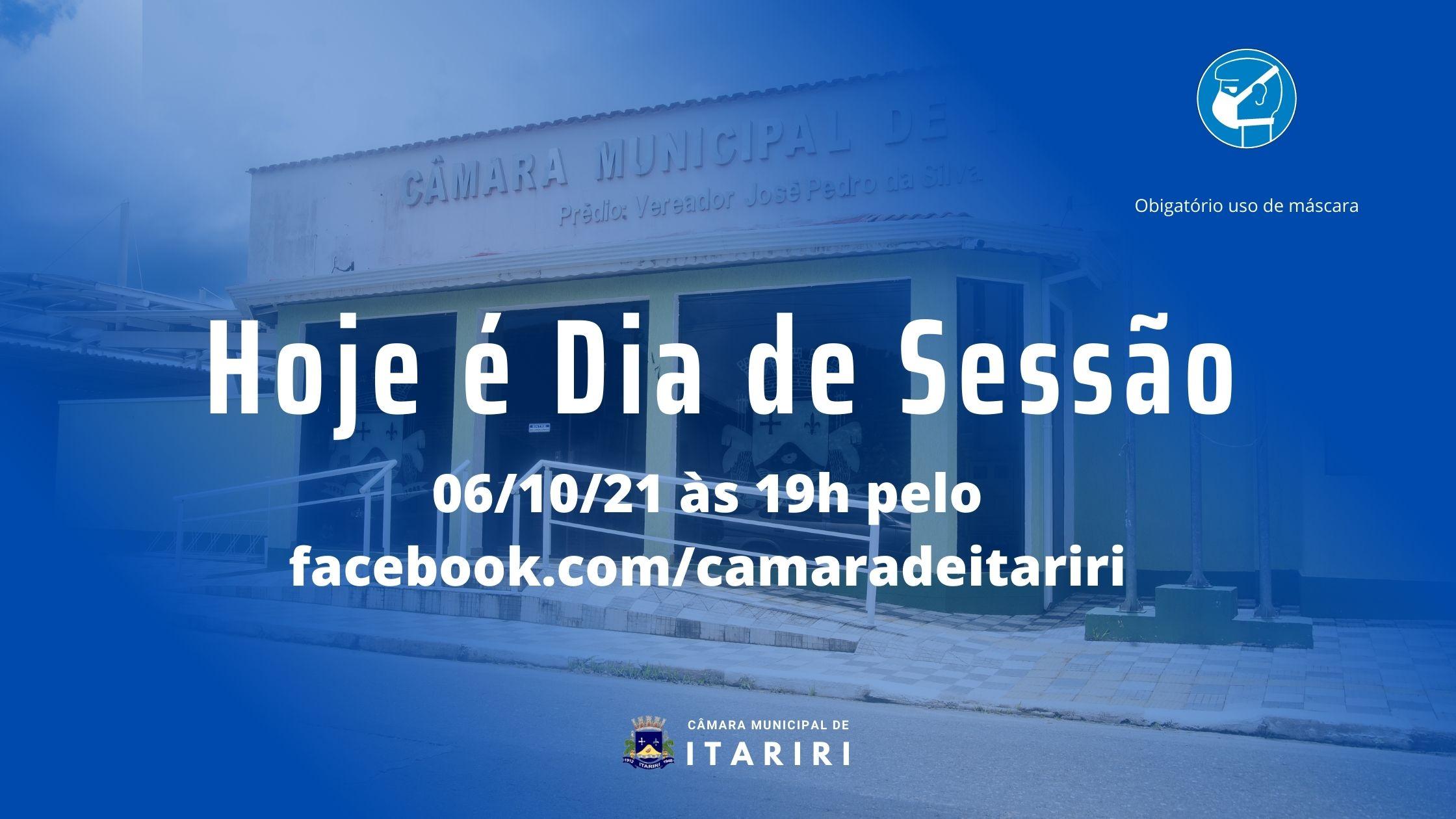CÂMARA DE ITARIRI REALIZA SESSÃO ORDINÁRIA NESTA QUARTA-FEIRA (6)
