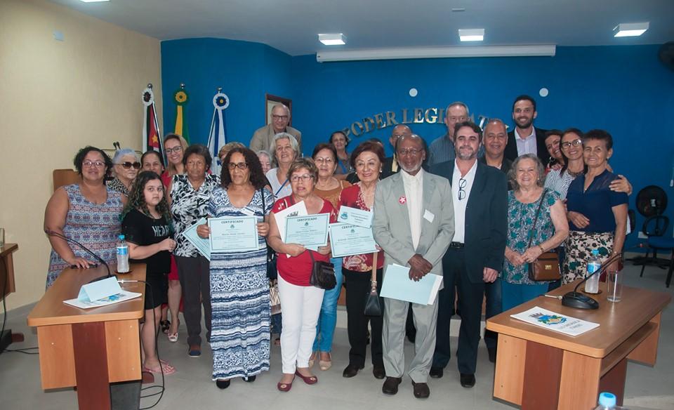 CÂMARA DE ITARIRI HOMENAGEIA IDOSOS COM PALESTRA E SESSÃO SIMBÓLICA