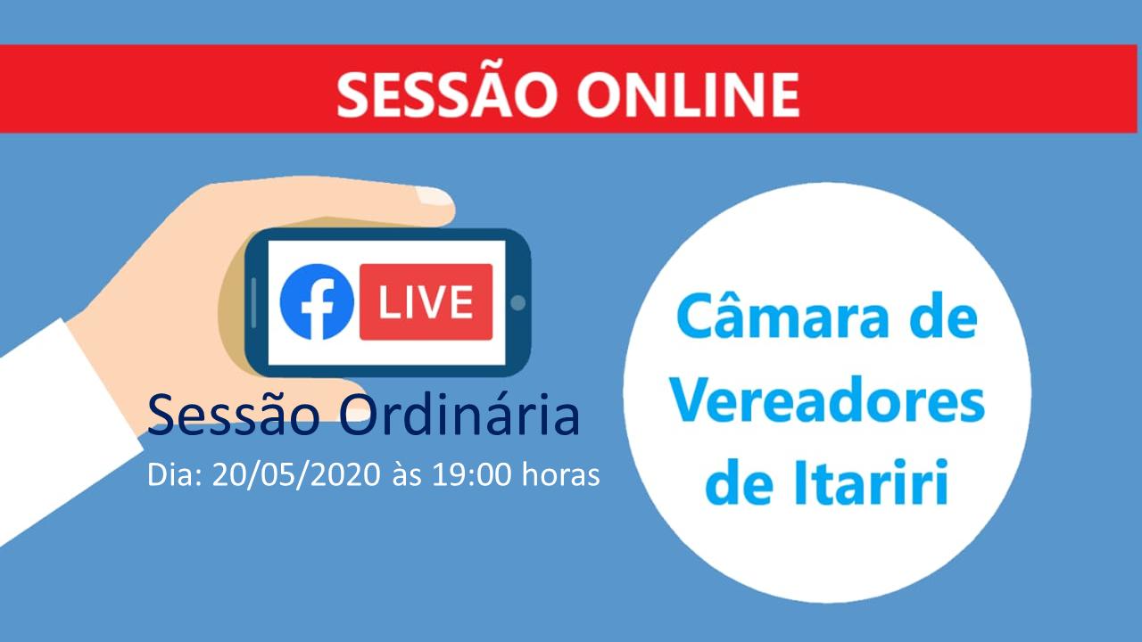 Assista a sessão ordinária ao vivo nesta quarta-feira (20)