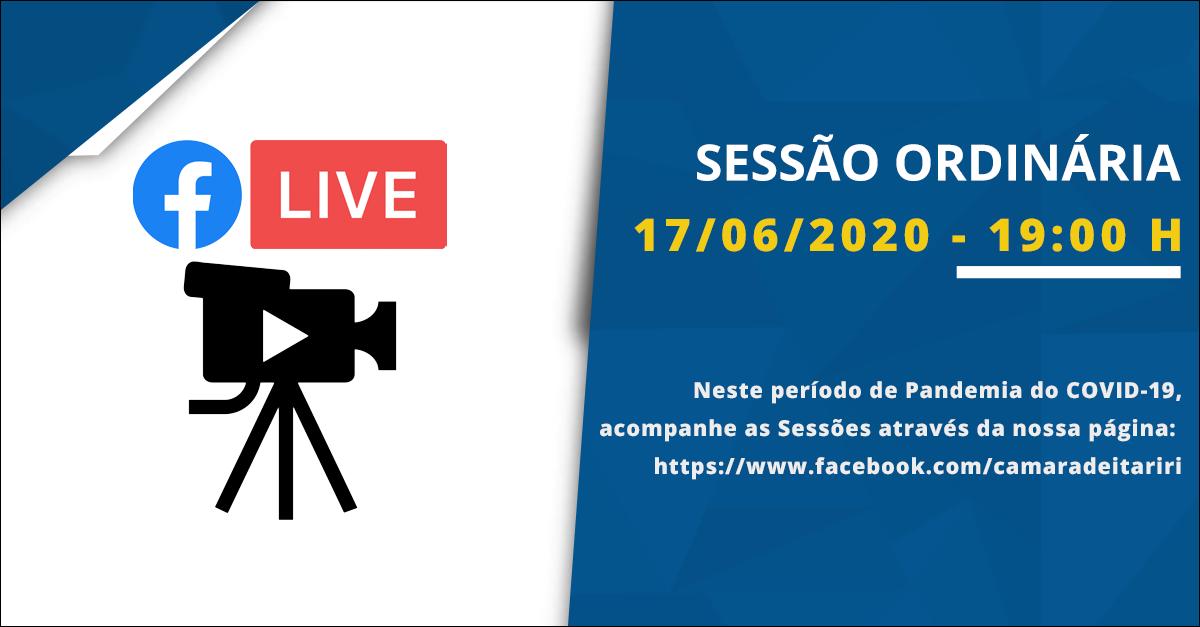 Com transmissão online, Câmara realiza sessão ordinária nesta quarta-feira (16)